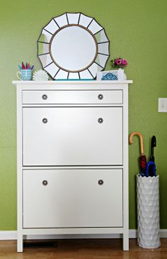 An Organized Entryway Drawer (to replace the mudroom shoes & mail area)