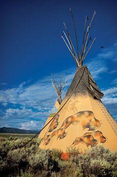 une paillote d'apache les dessin magnifique il dessiné et il m'avait pas de pinceaux et regardé comme c'est beau