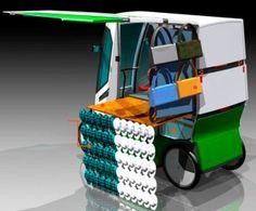 Carro elétrico é perfeito para vendedores ambulantes | CASA.COM.BR Nerf, Toys, Side Door, Electric Motor, Cord Automobile, Cars, Gardening, Life, Toy