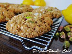 Vegan Coconut Lemon Pistachio Oatmeal Cookies   Fragrant Vanilla Cake