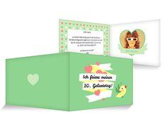 Großes Herz Einladungskarten Kindergeburtstag