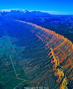Wasatch Fault. East Bench.Tom Till: this is a normal fault which forms the E boundary of the Basin & Range geologic province which comprises the geographic Great Basin: the fault is 240-mi long, from S Idaho, thru N Utah, before ending in Cnt Utah near the town of Fayette