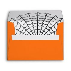 #Halloween Spider Web Envelope - #Halloween happy halloween #festival #party #holiday