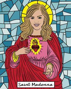 MADONNA Prayer candle, Saint Madonna candle, soy wax candle, Madonna candle, like a prayer, 80s gift, madonna fan, madonna singer, novena