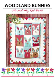 Woodland Bunnies PDF Quilt Pattern. by TheRedBootQuiltCo on Etsy