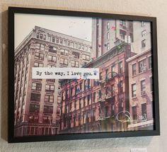 By the way I LOVE YOU by TOBIAS SCHREIBER  www.tobiasschreiber.com  NYC I New York I USA I Love I Liebe I Kunst I Art I Fotografie I Photography I Artist I Künstler I Acryl I Spots I Punkte I Häuser