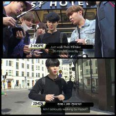 Awh poor Chim Chim lol #BTS #방탄소년단 ❤ BON VOYAGE PREVIEW