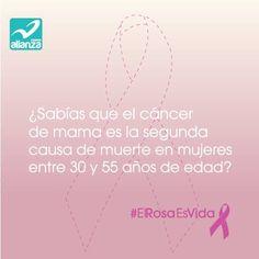 ¿Sabías que el cáncer de mama es la segunda causa de muerte en mujeres entre 30 y 55 años de edad?