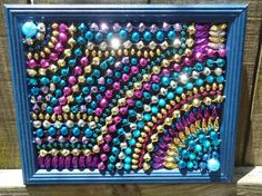Recycled Mardi Gras Bead Art Mosaic