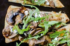 Guest Post: Mushroom, Arugula and Goat Cheese Flatbread by Living Lou - Mushrooms Canada Goats Cheese Flatbread, Goat Cheese, Recipe Creator, Arugula, Vegetable Pizza, Stuffed Mushrooms, Fresh, Meat, Chicken