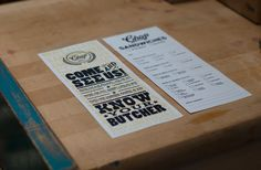 Full Brand: Chop Butchery & Charcuterie by Factory North , via Behance