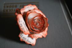 book page flowers -  easy to follow tutorial