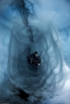 Ice diving in Sassolo Lake, Switzerland