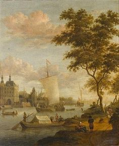 A view of Amsterdam by Jacobus Storck