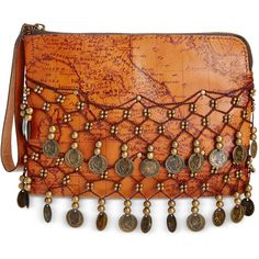 Patricia Nash Italian Map Coin Cassini Wristlet ($89) ❤ liked on Polyvore featuring bags, handbags, clutches, rust, wristlet purse, wristlet clutches, coin purse, wristlet handbags and patricia nash purses