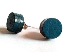 Laser cut wood dark blue stud earringshand painted wood earringswood stud earringsdark blue earringsdark blue jewelrycolorful earrings (11.00 EUR) by DigitalHandmade