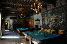 The Billiard Room at Hearst Castle