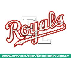Baseball Machine Embroidery Designs royals by EmbroiderlyLibrary