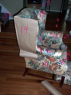 Bibbidi Bobbidi Beautiful: How to Slipcover Sofas and Chairs Even Wingbacks Upholstery Repair, Furniture Upholstery, Upholstery Nails, Upholstery Cushions, Upholstery Cleaning, Funky Furniture, Reupholster Furniture, Slipcovers For Chairs, Upholstered Chairs