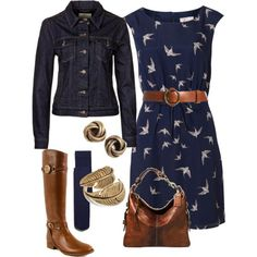 Fall Swallow Dress by vintagesparkles78 on Polyvore