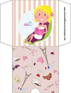 Spa Party - Kit Completo com molduras para convites, rótulos para guloseimas, lembrancinhas e imagens!