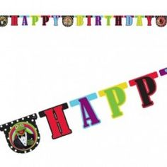 Banner: Muppets Party Happy Birthday Letter Banner (each)
