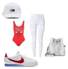 """nikecortez"" by ranbe on Polyvore featuring Mode, WithChic, Unk, Topshop, NIKE und MCM"