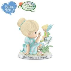"""Precious Moments And Disney """"Our Friendship Is Magical"""" Tinker Bell Figurine by The Hamilton Collection - http://www.preciousmomentsfigurines.org/precious-moments/precious-moments-and-disney-our-friendship-is-magical-tinker-bell-figurine-by-the-hamilton-collection/"""