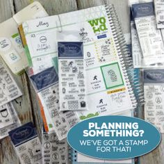 Planning Something? Technique Tuesday has a stamp for that. Check out the planner stamps from Technique Tuesday. 24 different stamp sets available. // TechniqueTuesday.com