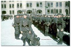 1943. New Wehrmacht recruits being given their kit