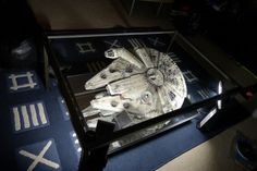Millenium Falcon coffee table.