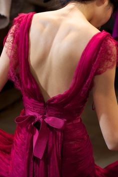 deep camellia pink gown