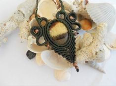 jasper necklace,macrame necklace,cabochon necklace,hippie jewelry,gemstone necklace,boho chic,handmade necklace,macrame pedant,bohemian