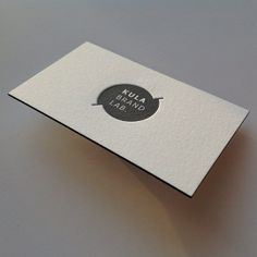 Today on the press: #duplexed #letterpress #businesscard with #black painted edges | Flickr - Photo Sharing!