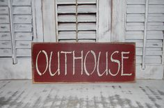 Primitive Bathroom Sign Country Home Decor Outhouse Sign on Etsy, $12.00