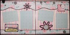 Really cute and relatively simple scrapbook page