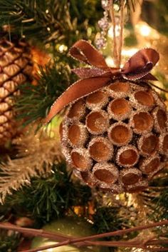 Acorn Ornament...great idea for Faith to make