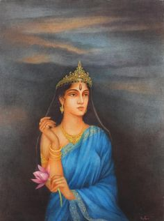 """""""Fortune and love favor the #brave."""" Tempera on Canvas by Bratin Khan  Size: 48 x 36 in Year: 2001 Explore more exquisite #paintings at the exhibition """"Songs of Amity"""" by renowned artists Bratin & Sutapa Khan at Emami Chisel #Art Gallery, Kolkata."""