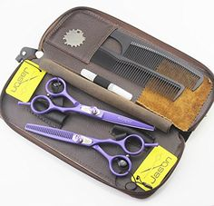 Jason Professional 60 Inch Hairdressing Scissors  Thinner Hair Cutting Shears Barber Salon Styling Scissors Set with Leather Case >>> You can find out more details at the link of the image.