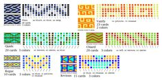 tablet weaving patterns 9 (for six-sided cards)