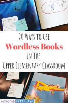 20 Ways to Use Wordless Books in the Upper Elementary Classroom Wordless Picture Books, Wordless Book, Teaching Writing, Writing Activities, Teaching Ideas, Reading Resources, Classroom Activities, Teaching English, 5th Grade Reading