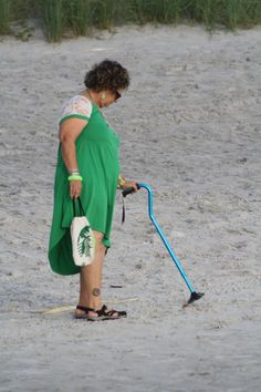 Disabled enjoying beach