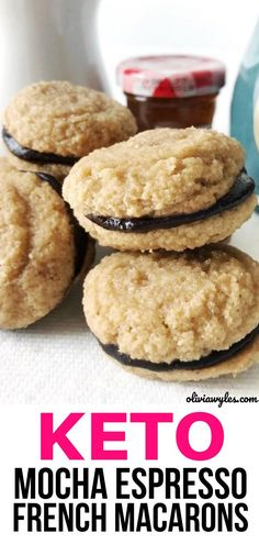 Easy simple ingredient keto mocha espresso macarons you will want to check out! Quick & simple ingredient ketogenic diet recipe that makes for a great keto dessert. Sweet low carb dessert. Sugar free & gluten free dessert. Switch out sugary treats for this easy & delicious keto food dessert. Keto diet for beginners or advanced. Learn how to make keto mocha espresso macarons!  | Olivia Wyles | Keto Lifestyle Guide | Low Carb Recipes