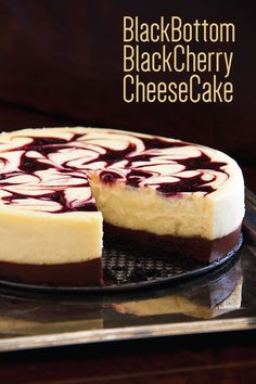 This crave worthy chocolate cherry cheesecake has a decadent base of chocolate ganache and a kiss of cherry swirled into the creamy sweet cheese filling. Food Cakes, Cupcake Cakes, Cupcakes, Dessert Crepes, Chocolate Wafer Cookies, Cherry Sauce, Chocolate Cherry, Chocolate Ganache, Chocolate Cheesecake
