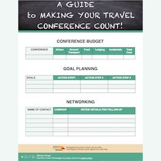 An easy-on-the-eyes guide to your next travel conference! http://goo.gl/53lyZM