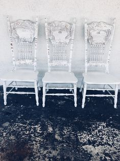 Your place to buy and sell all things handmade Kitchen Chairs, Dining Chairs, Distressed Chair, Shabby Chic Chairs, Farmhouse Chairs, Painted Chairs, Vintage Chairs, Back Seat, White Paints