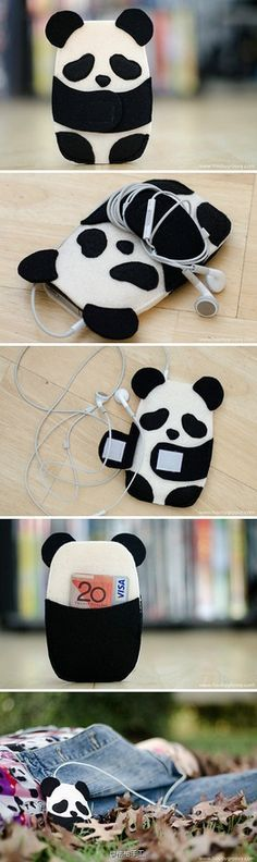 Kawaii panda case for iPhone | This is perfect I need this (even though I have a Samsung but who cares!)