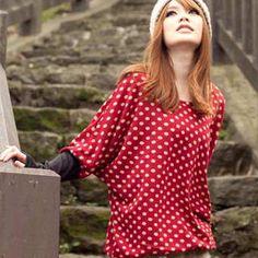 Tokyo Fashion  Dolman-Sleeve Patterned Panel Top