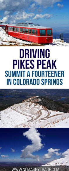 Everything you need to know about driving to the top of Pikes Peak in Colorado Springs, Colorado. Rocky Mountains   Things to do in Colorado Springs   Pikes Peak summit   Fourteeners   Colorado attractions