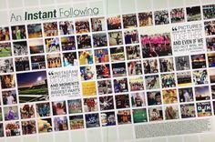 Social media yearbook spread (Instagram) - http://kclegacyyearbook.com